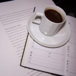 picture of coffee cup with daily planner