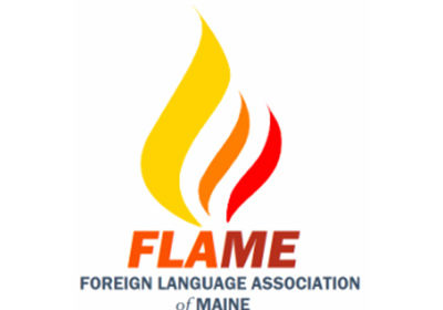 logo for foreign language association of maine