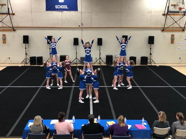 Cheerleaders at the Cheering Invitational