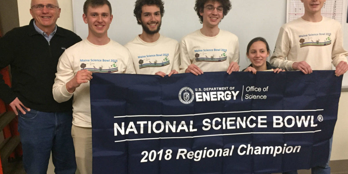 Bangor Students Win National Science Bowl Regional Championship